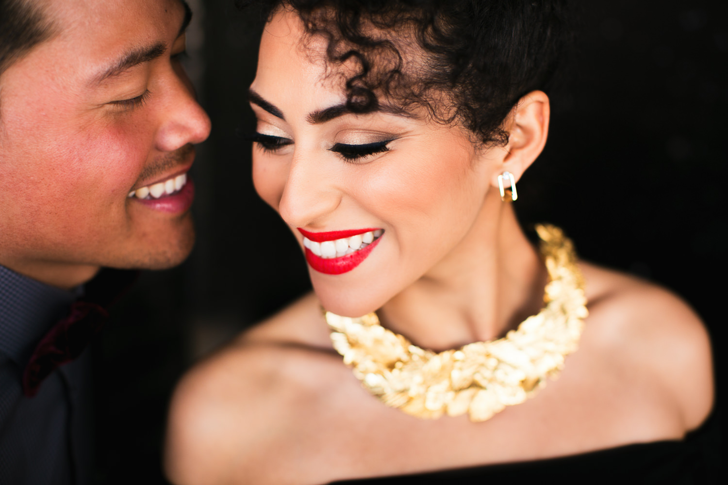 Fashionable Engagement in Downtown Los Angeles - Gorgeous Couple