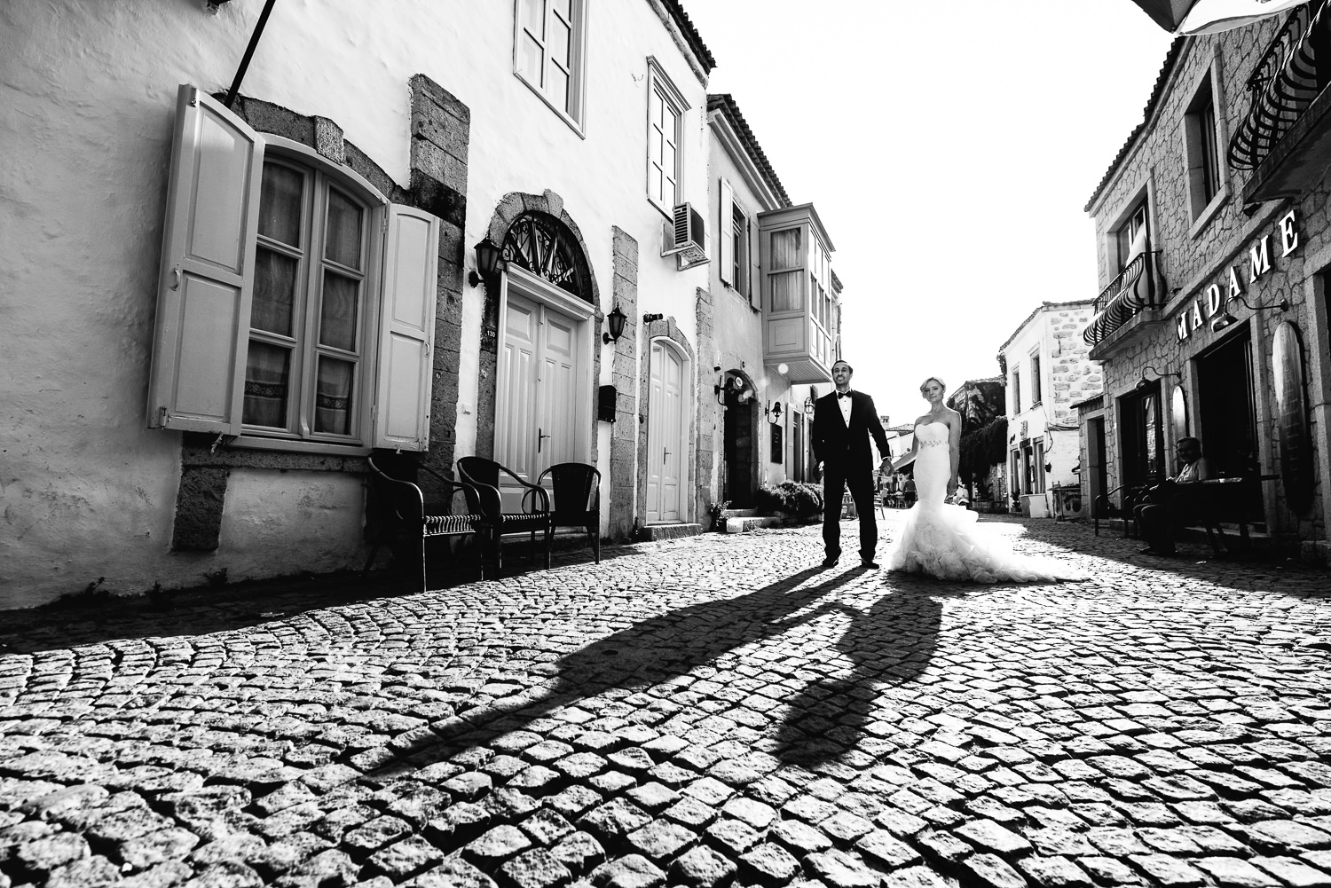 Turkey Wedding - Black and White photo in the city