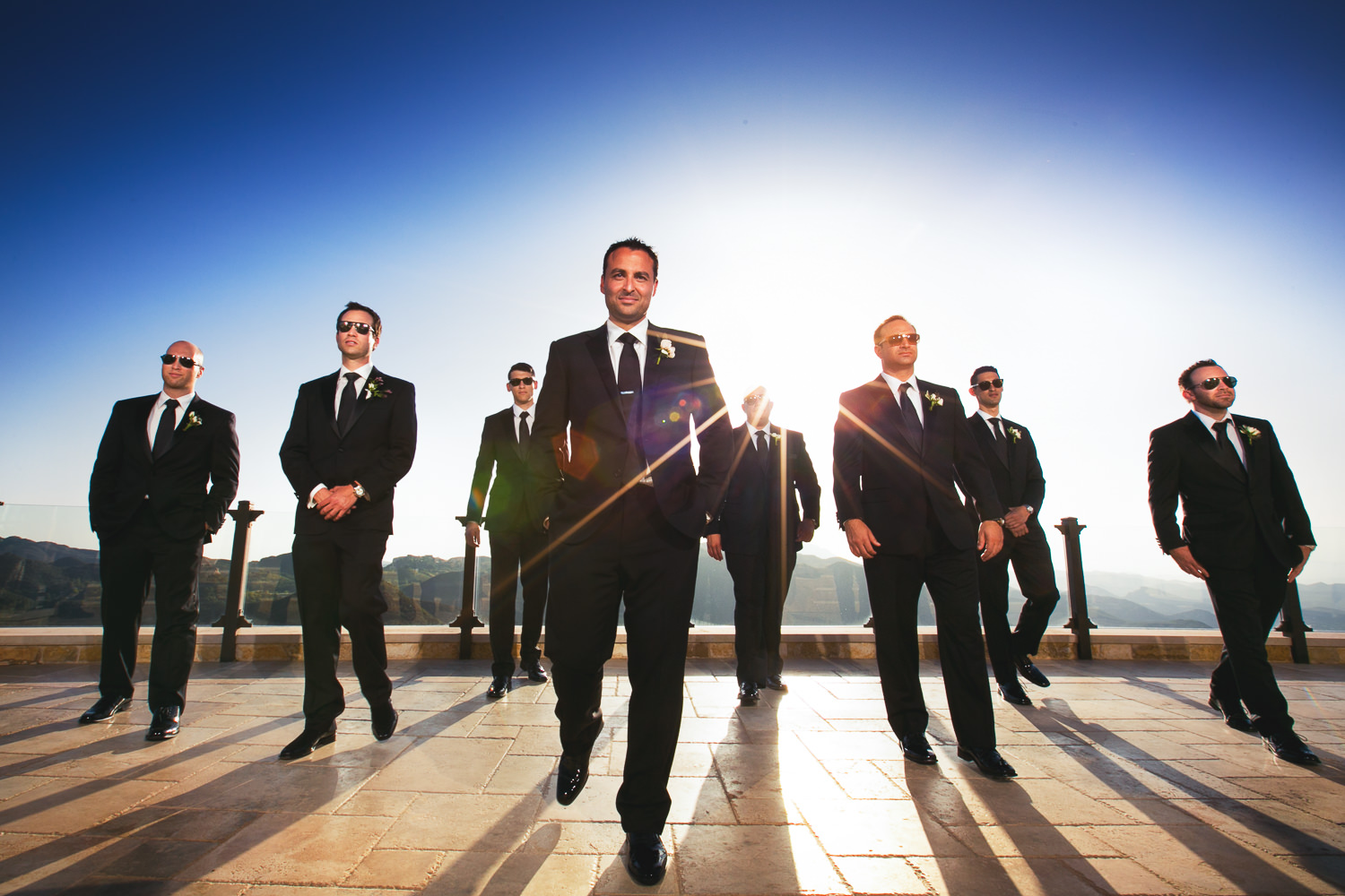 Malibu Rocky Oaks Photographer - Groomsmen Looking Great