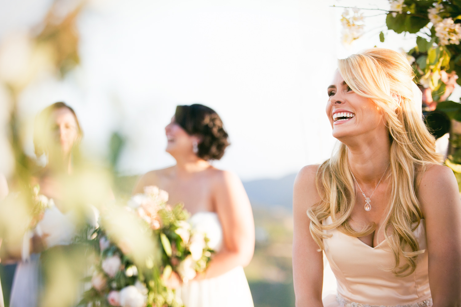 Malibu Rocky Oaks Photographer - Bride Laughing