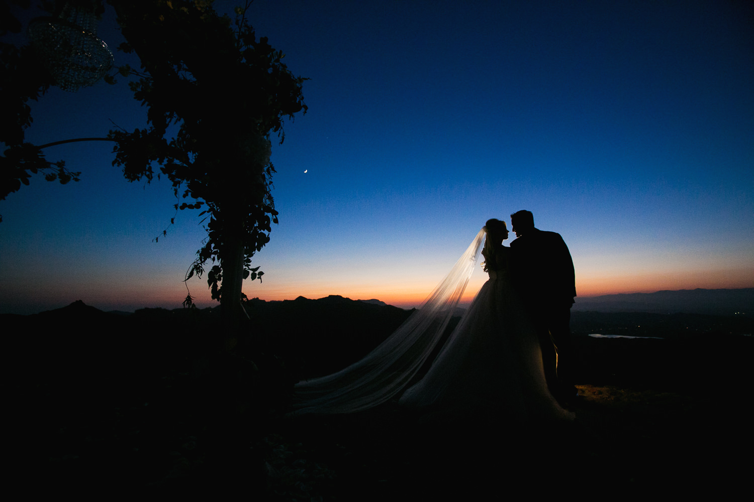Malibu Rocky Oaks Photographer - Kissing In the Sunset