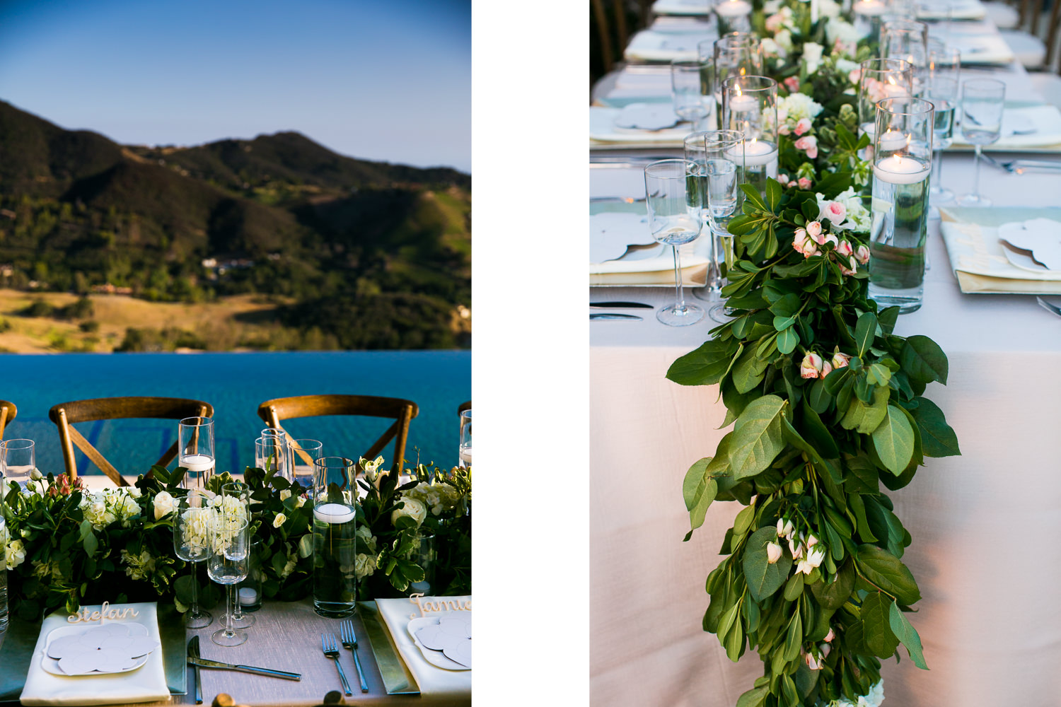 Malibu Rocky Oaks Photographer - Gorgeous Wedding Reception Decor