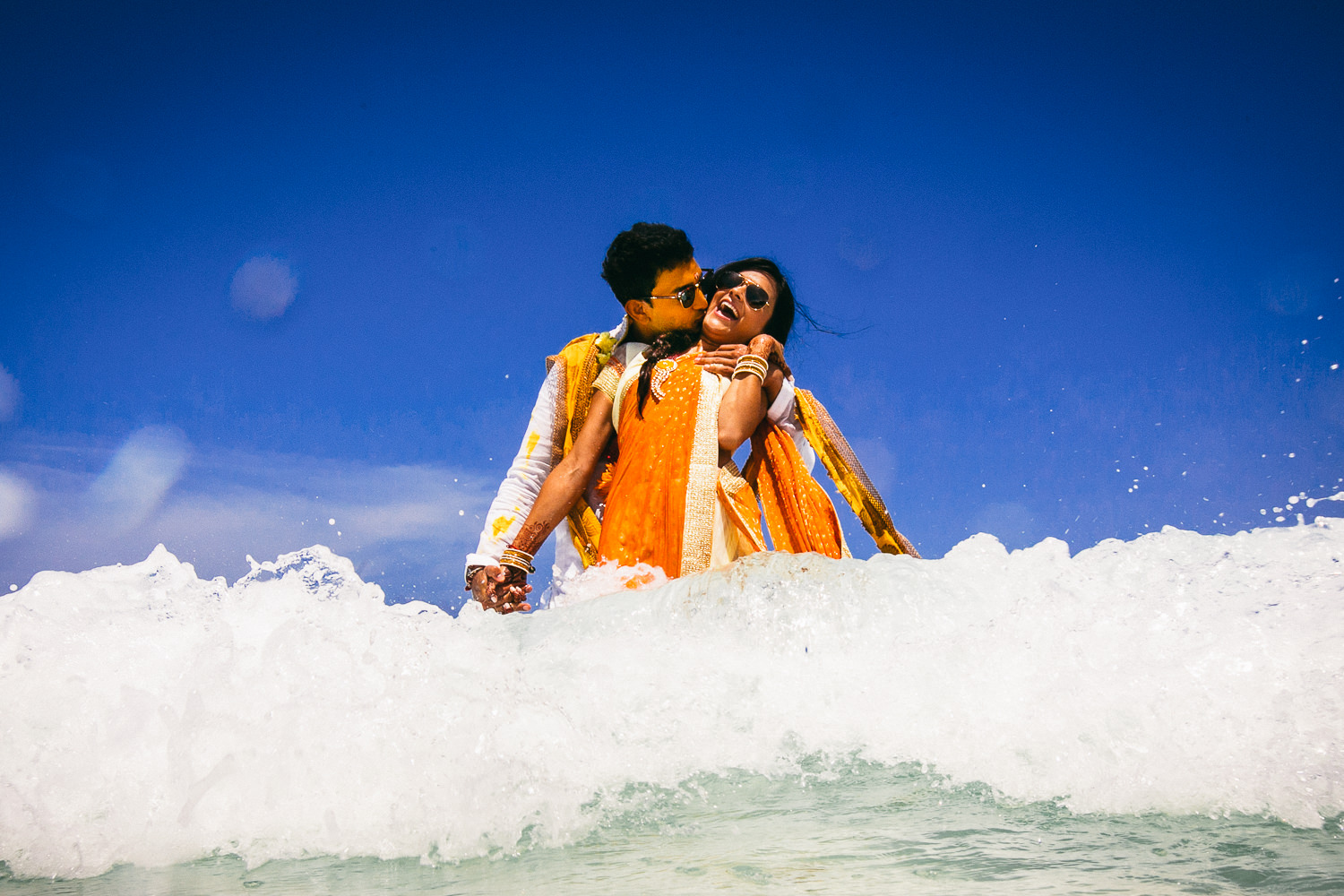 Paradisus Cancun Indian Wedding - Joy in the waves