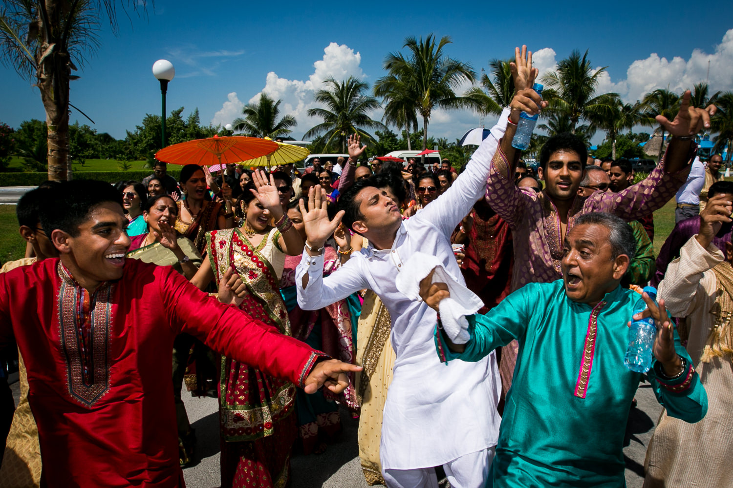 Paradisus Cancun Indian Wedding - Guests Celebrating Wedding