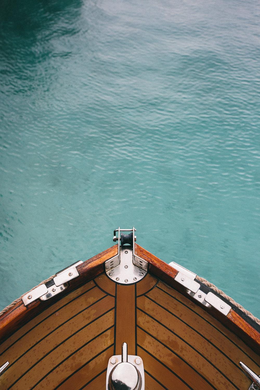 Four Seasons Bora Bora Wedding - Gorgeous shot of the boat in the water
