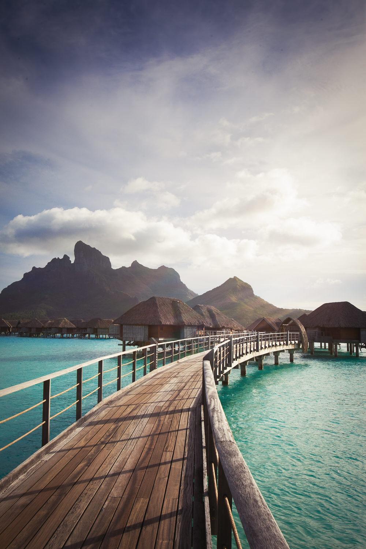 Four Seasons Bora Bora Wedding - Bridge to land