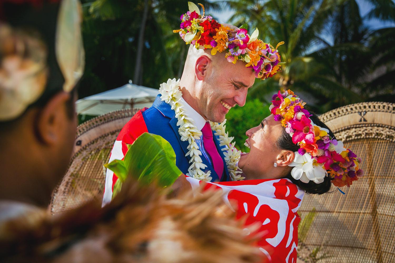 Four Seasons Bora Bora Wedding - Just Married
