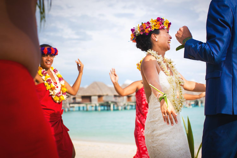 Four Seasons Bora Bora Wedding - Dancing with Joy