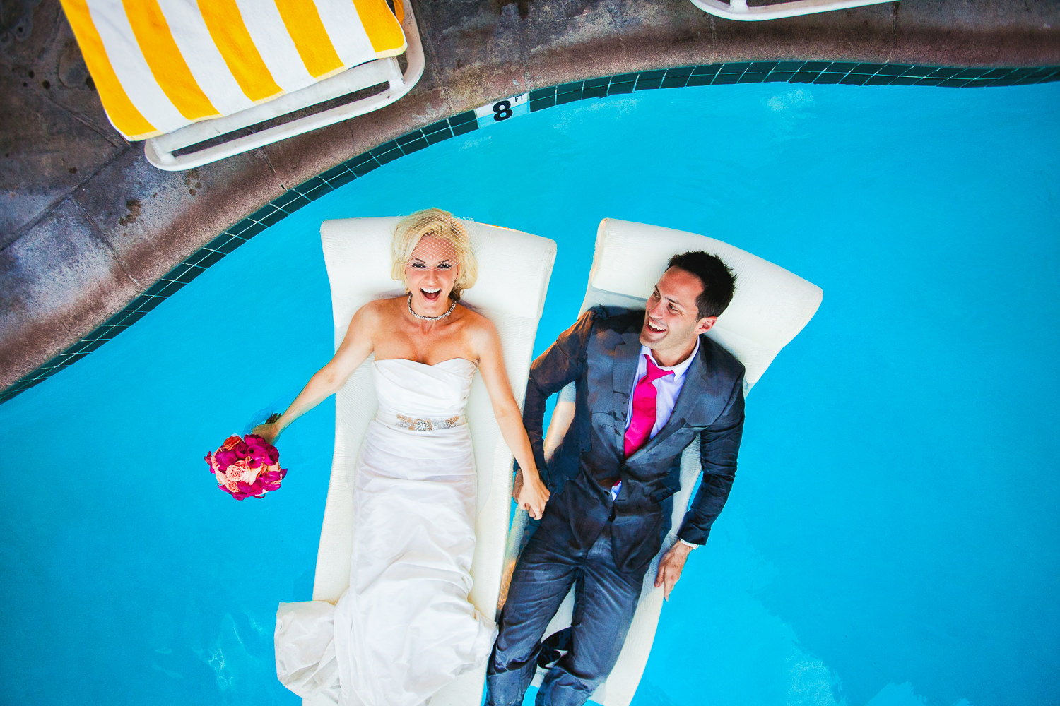 Avalon Palm Springs Photographer - Together in the pool