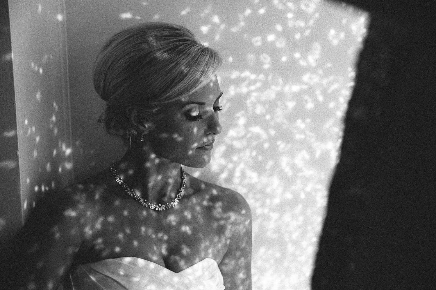 Avalon Palm Springs Photographer - Gorgeous black and white of bride