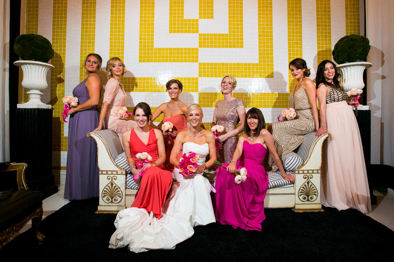 Avalon Palm Springs Photographer - Bridal Party Portrait