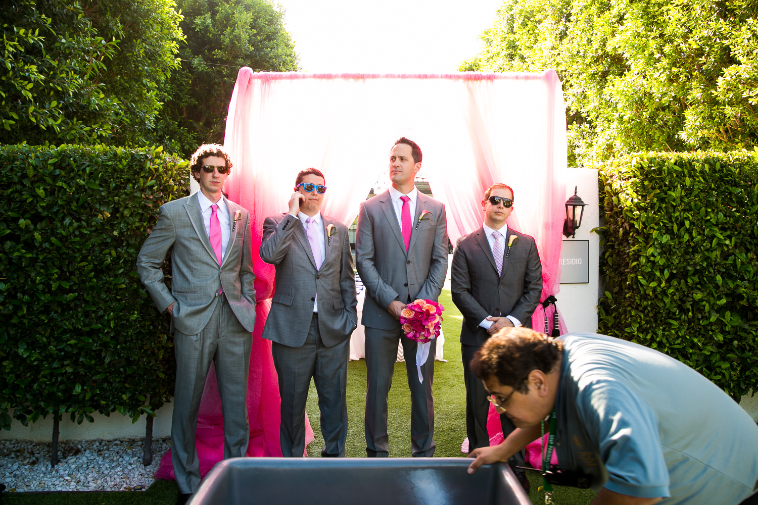 Avalon Palm Springs Photographer - Groomsmen Looking Good