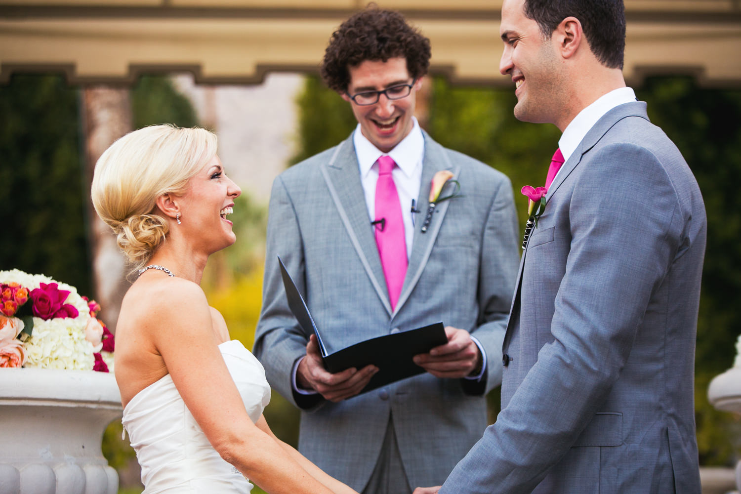 Avalon Palm Springs Photographer - Laughing Bride and Groom