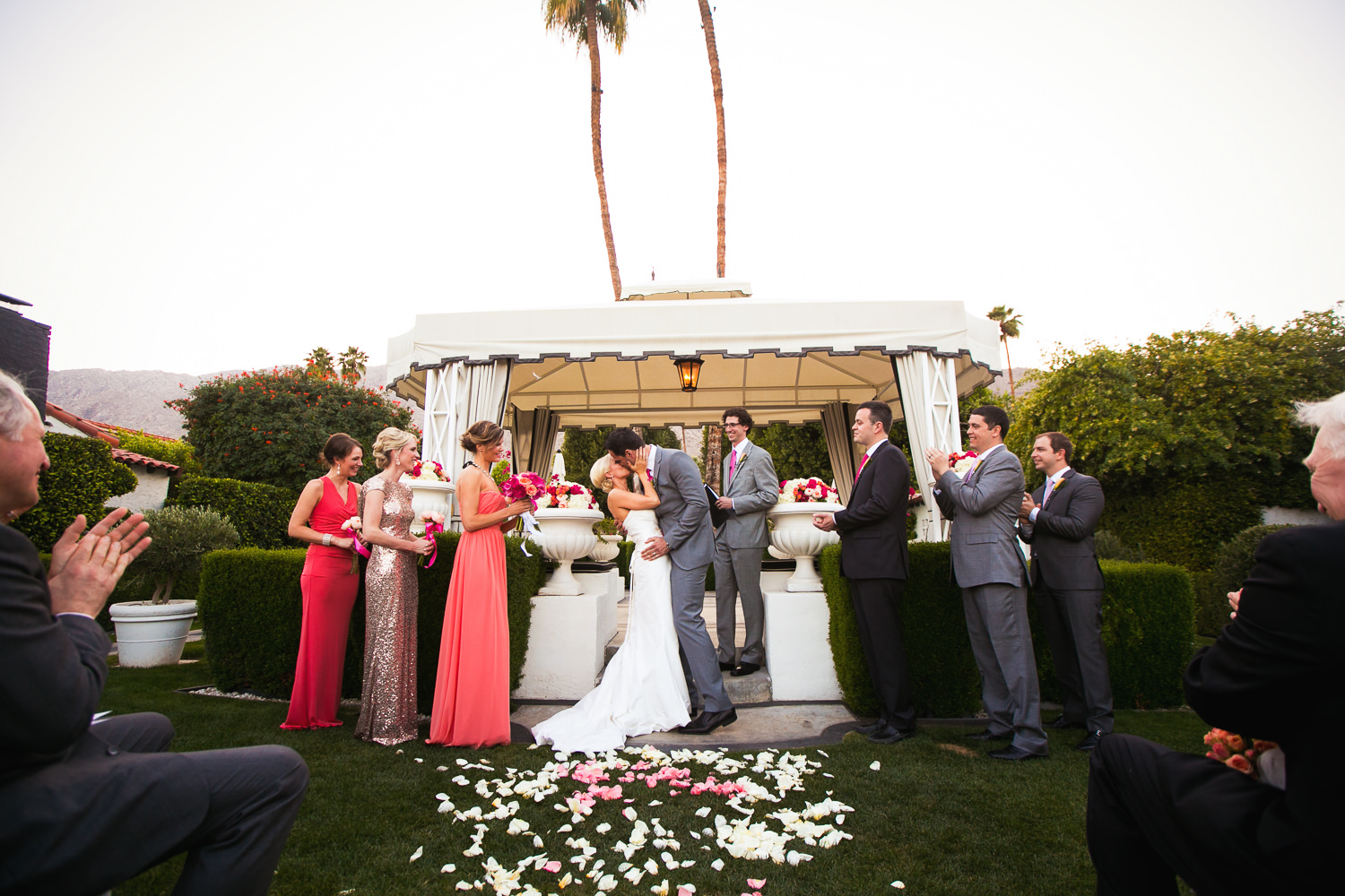 Avalon Palm Springs Photographer - Kissing the bride