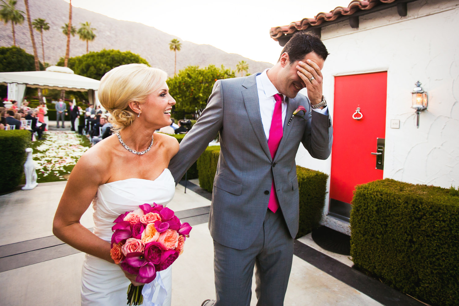 Avalon Palm Springs Photographer - Grooms emotions