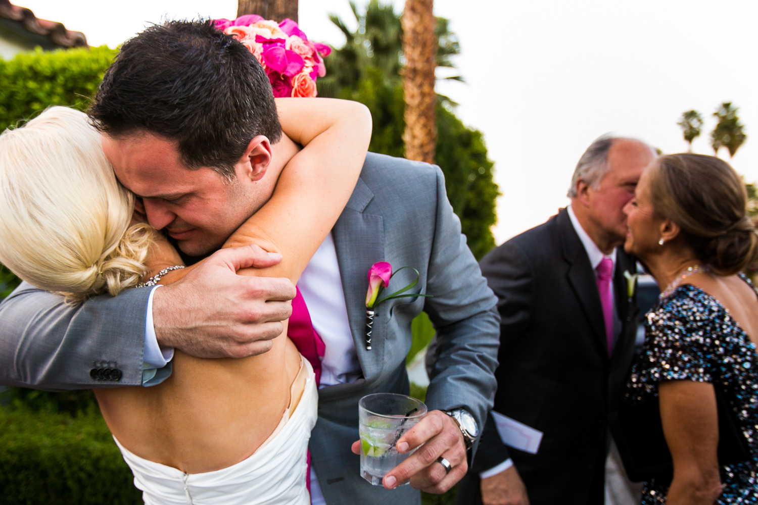 Avalon Palm Springs Photographer - Just Married Emotion