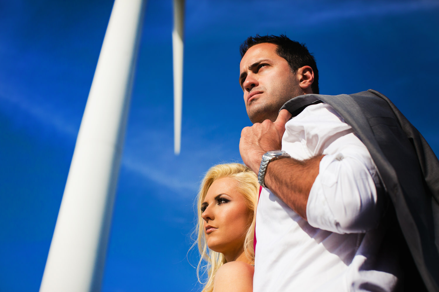 Avalon Palm Springs Photographer - Gorgeous shot of newly weds