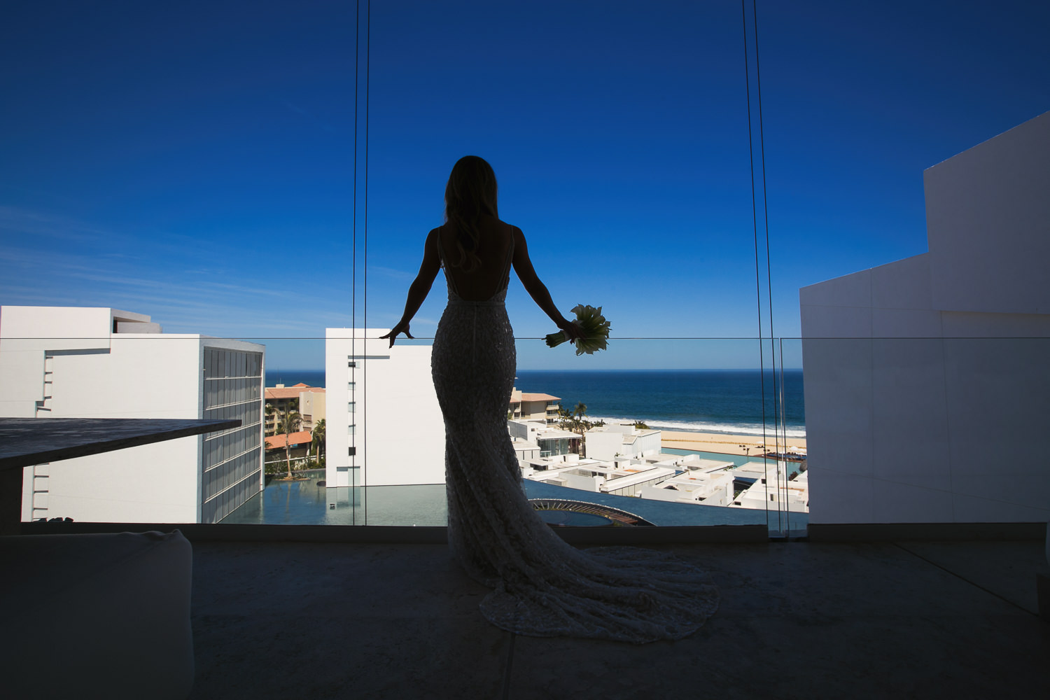 Viceroy Los Cabos Wedding - Bride looking over the stunning view
