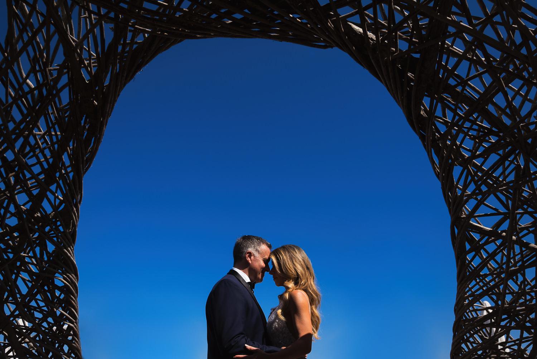 Viceroy Los Cabos Wedding - Embracing under the sky