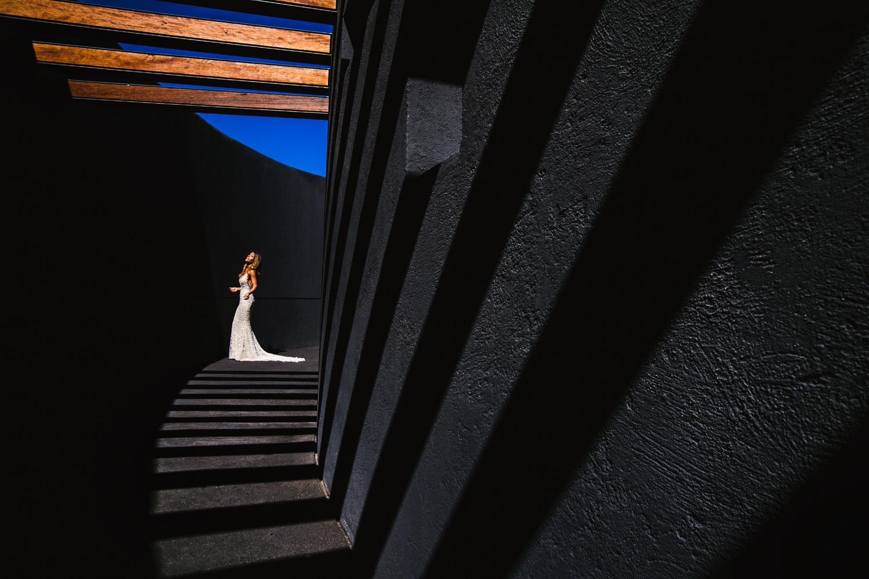 Viceroy Los Cabos Wedding - Bride lit by the sky