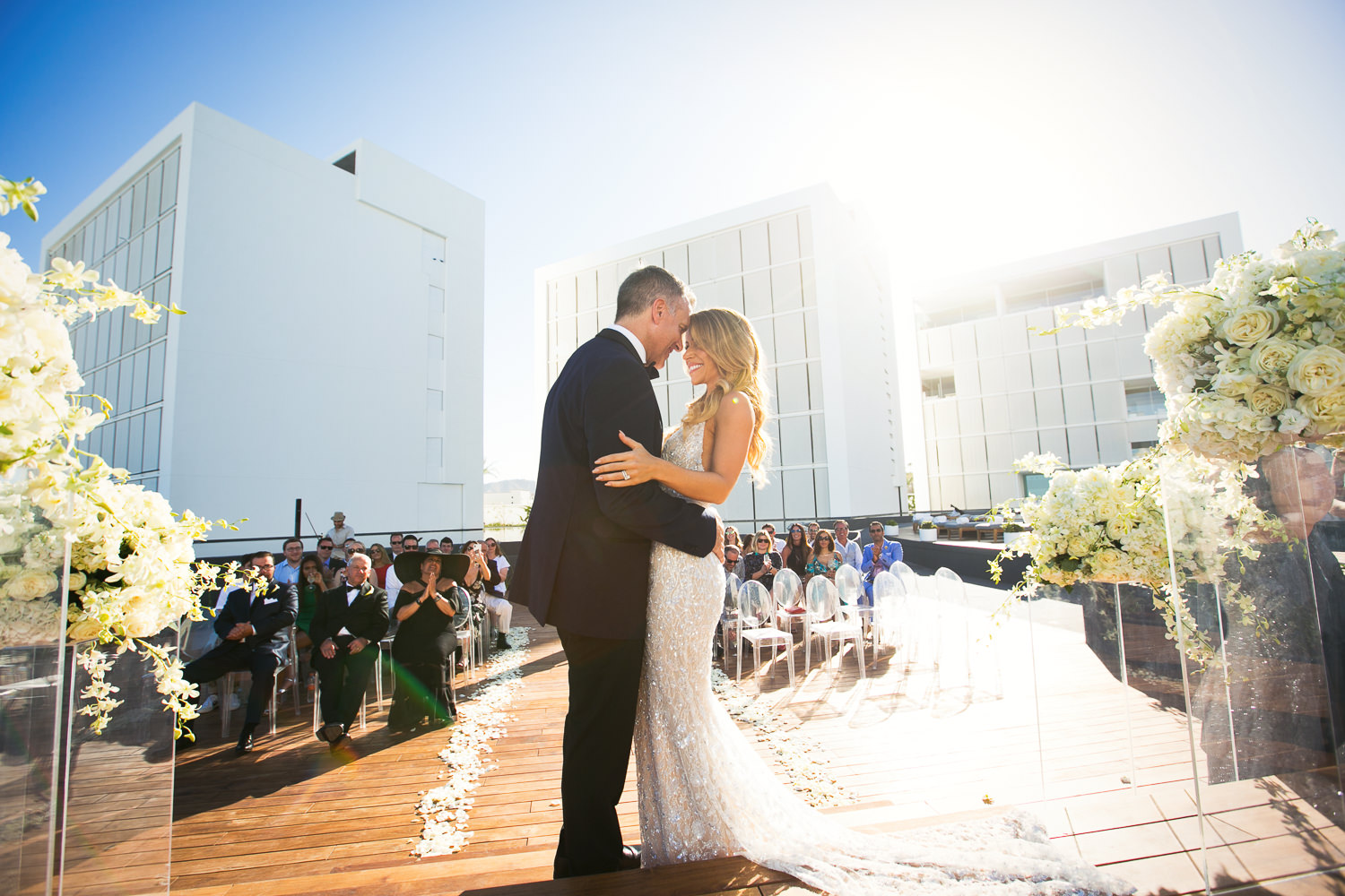 Viceroy Los Cabos Wedding - Right before the kiss