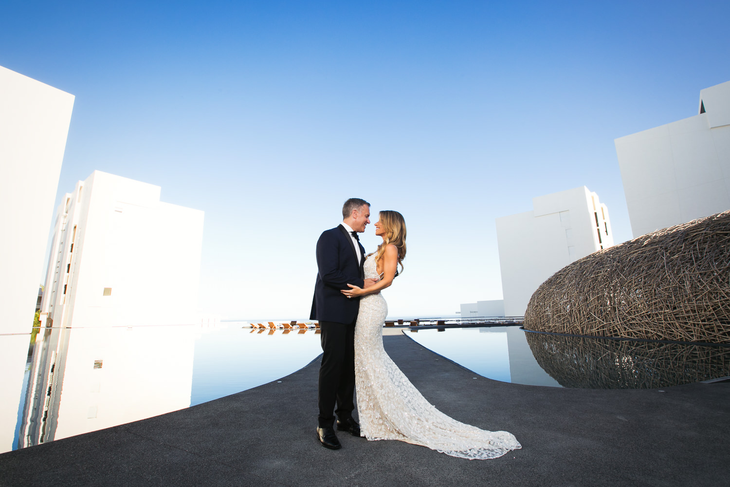 Viceroy Los Cabos Wedding - Embracing in the gorgeous scenery