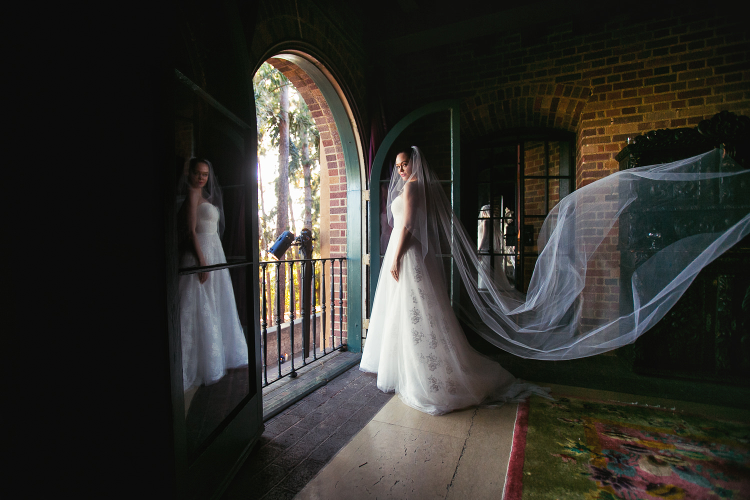 Rose McGowan Wedding at Paramour Estate - Bride in her gorgeous dress