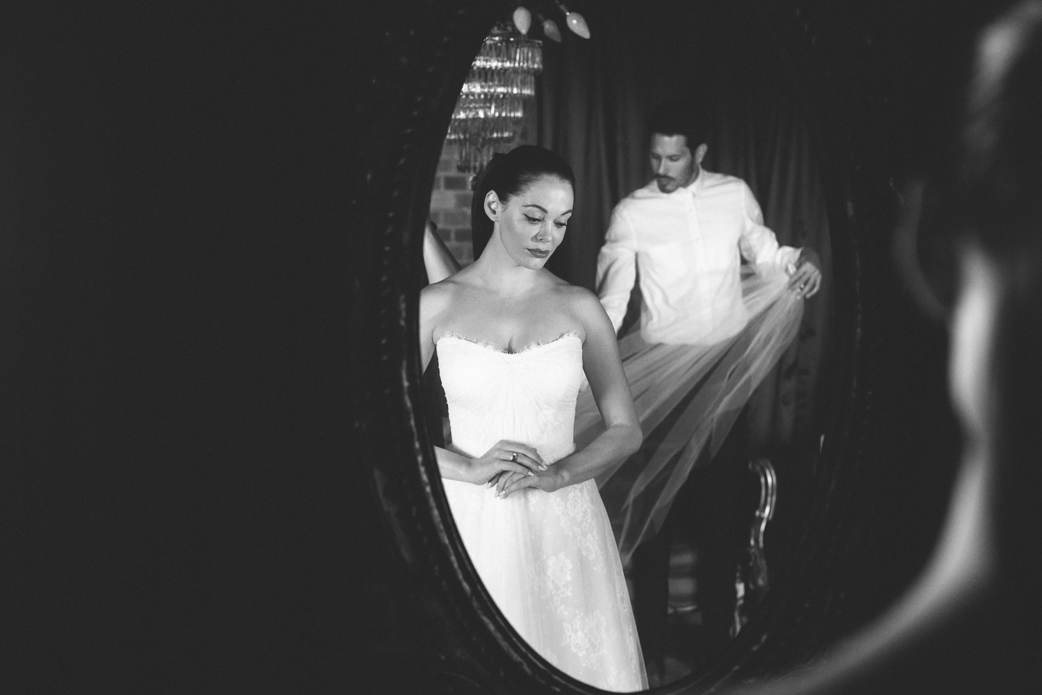 Rose McGowan Wedding at Paramour Estate - Bride getting ready