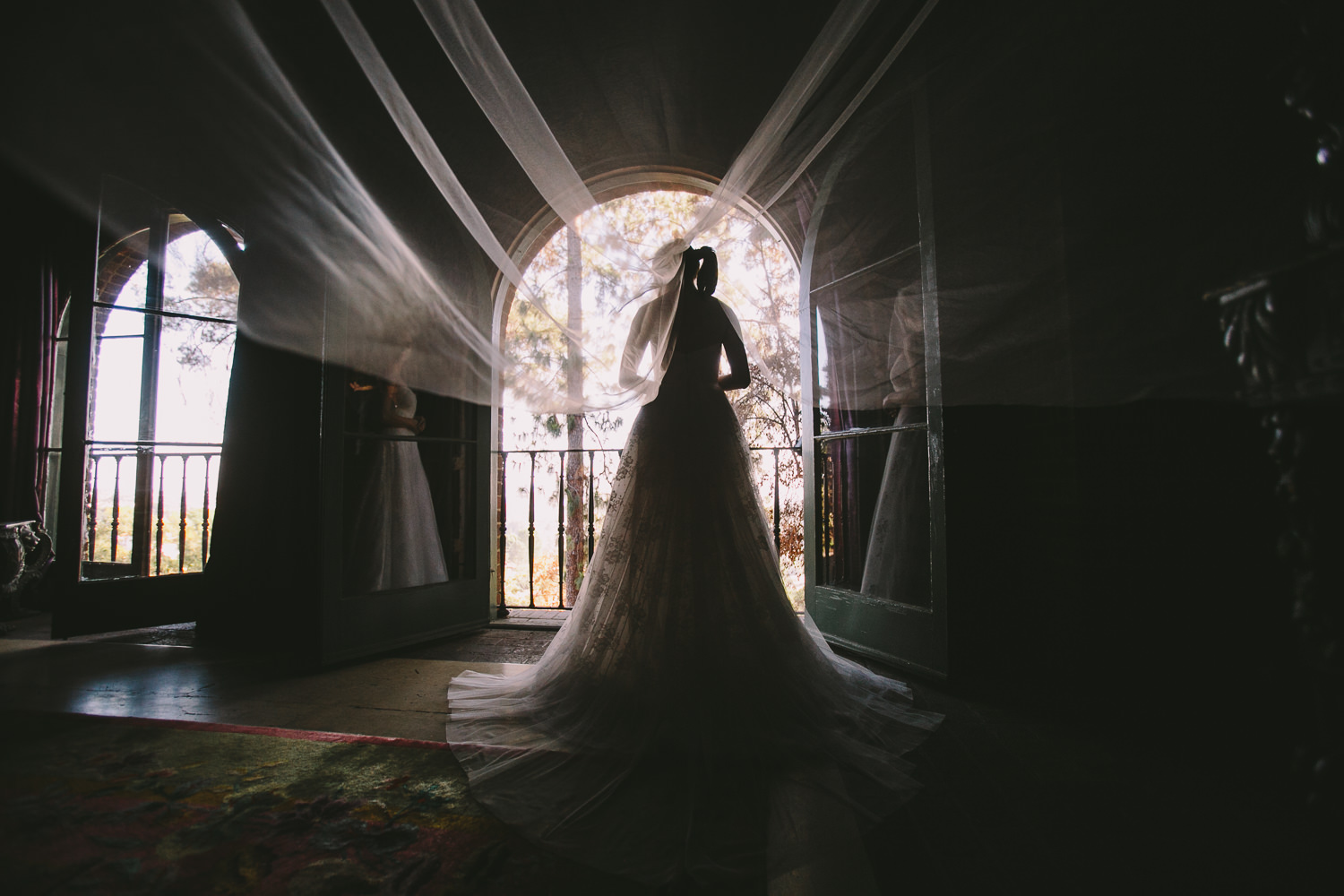 Rose McGowan Wedding at Paramour Estate - Another stunning shot of the bride