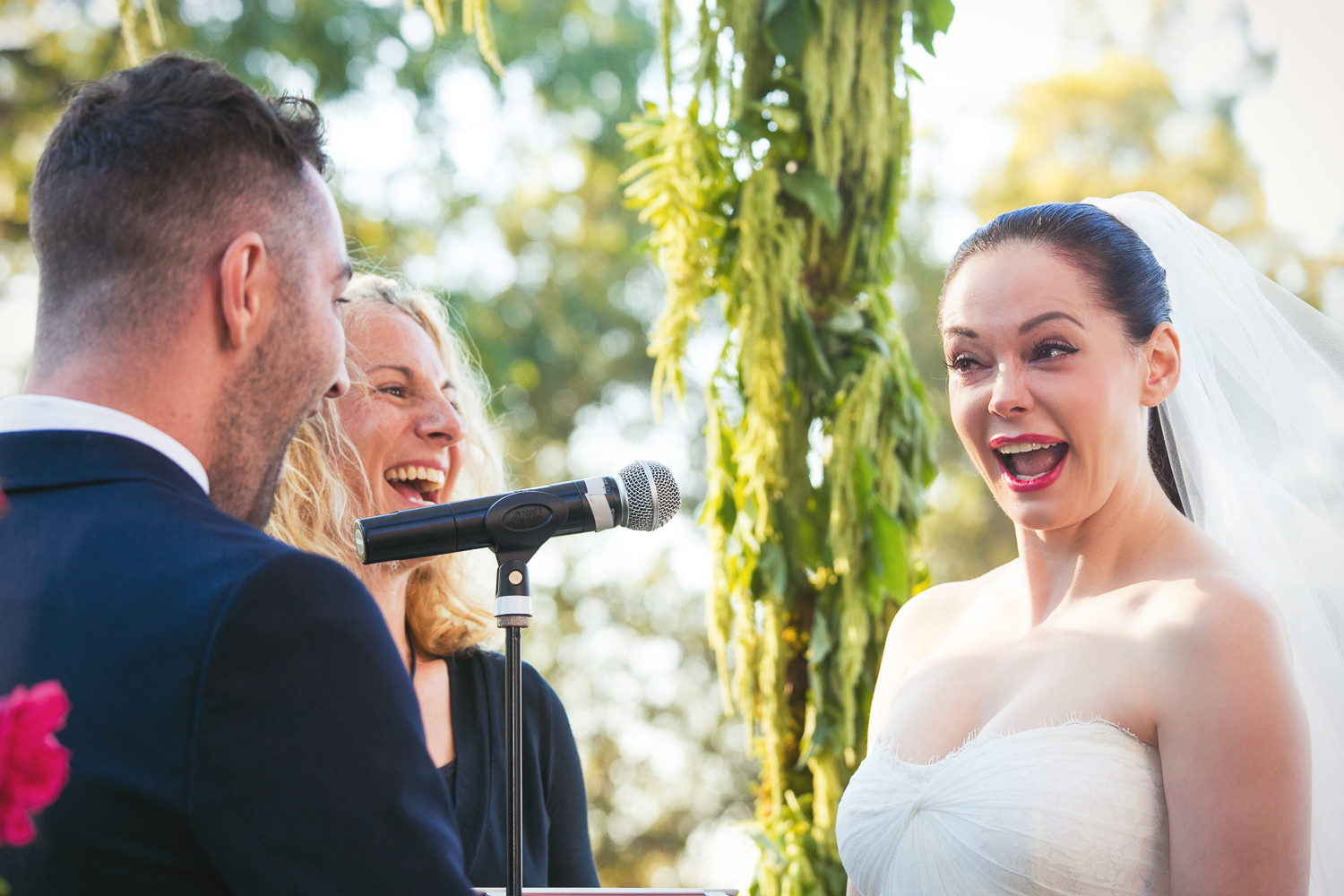 Rose McGowan Wedding at Paramour Estate - Laughter and emotion