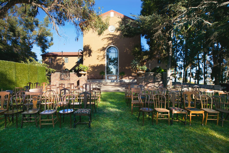 Rose McGowan Wedding at Paramour Estate - Beautiful wedding ceremony