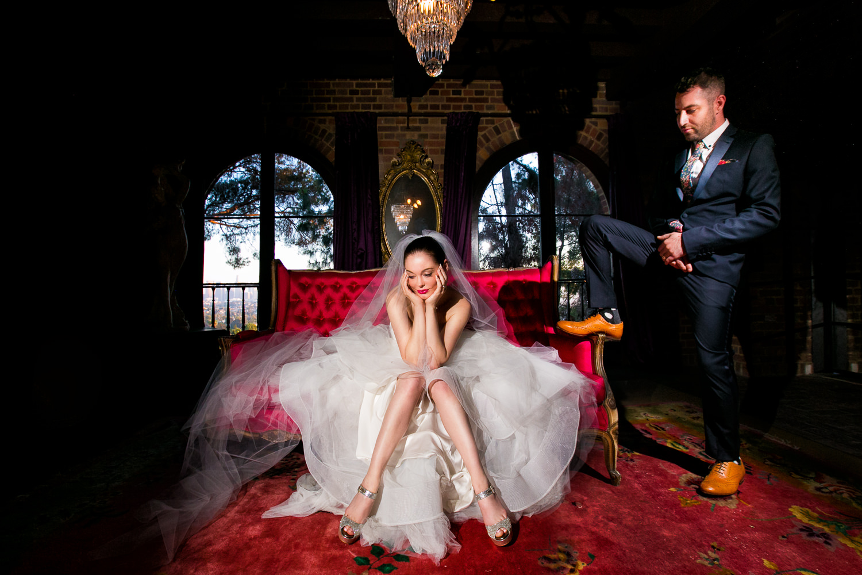 Rose McGowan Wedding at Paramour Estate - Posing in the gorgeous estate house
