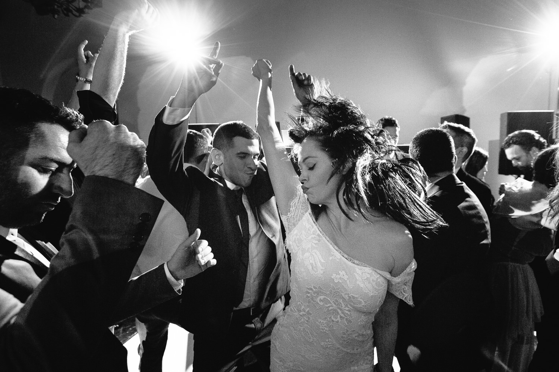 Rose McGowan Wedding at Paramour Estate - Bride dancing at wedding reception