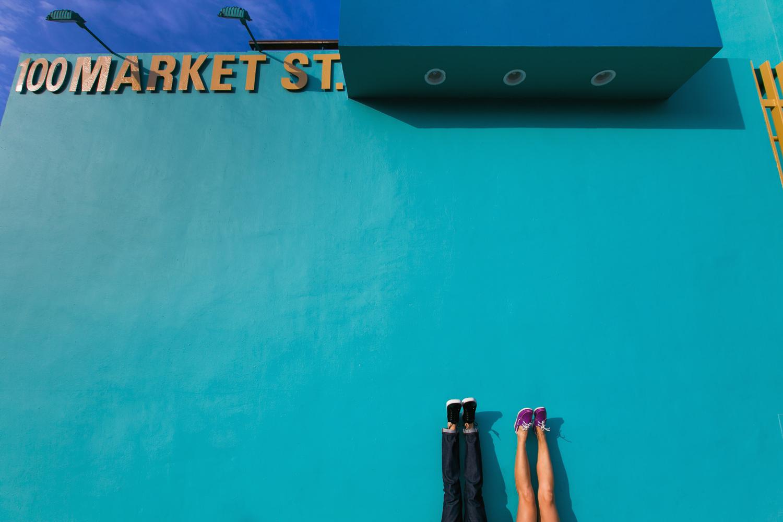 Venice Beach Engagement Photos - Upside down photo