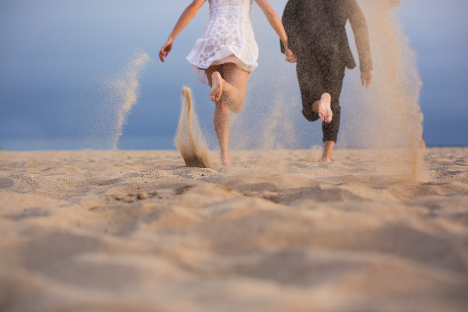 Venice Beach Engagement Photos - Running in the sand