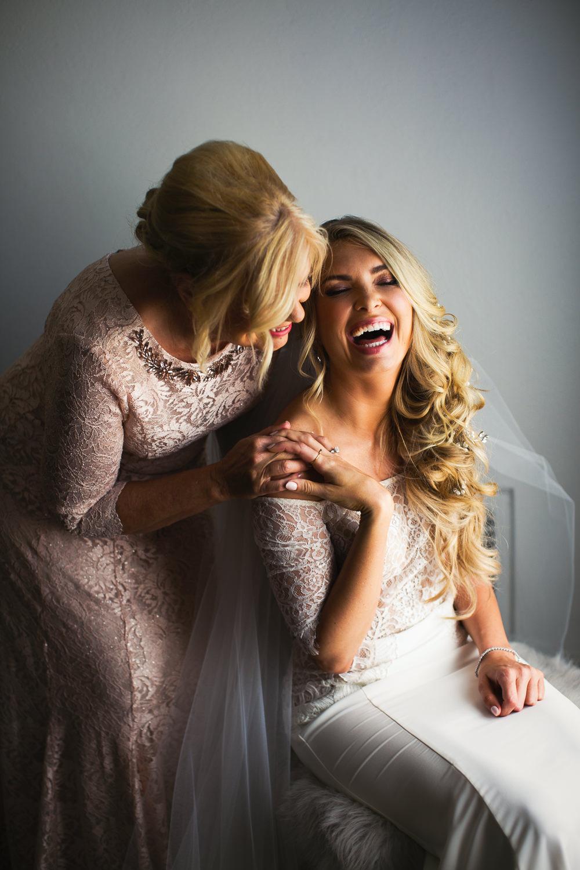 Ebell Long Beach Wedding - Bride laughing