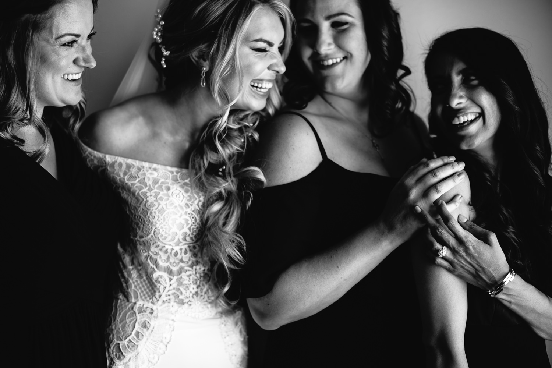 Ebell Long Beach Wedding - Bride having fun with her girls