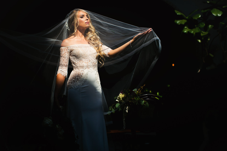 Ebell Long Beach Wedding - Bride in the sunlight