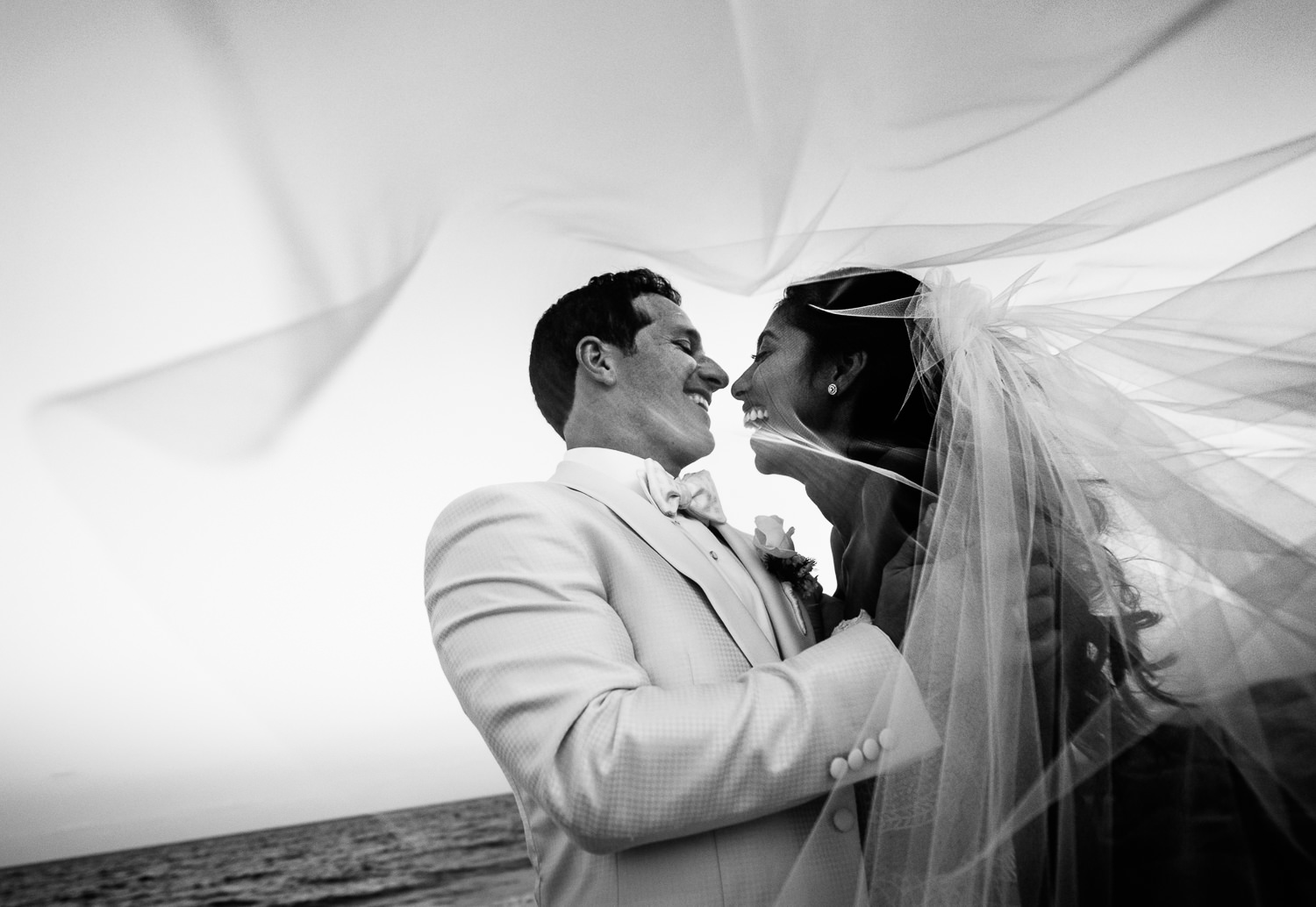 Just married photo at the Breakers Palm Beach Wedding