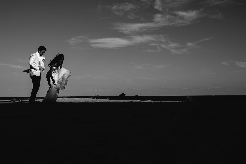 Breakers Palm Beach Wedding Black and White Photo