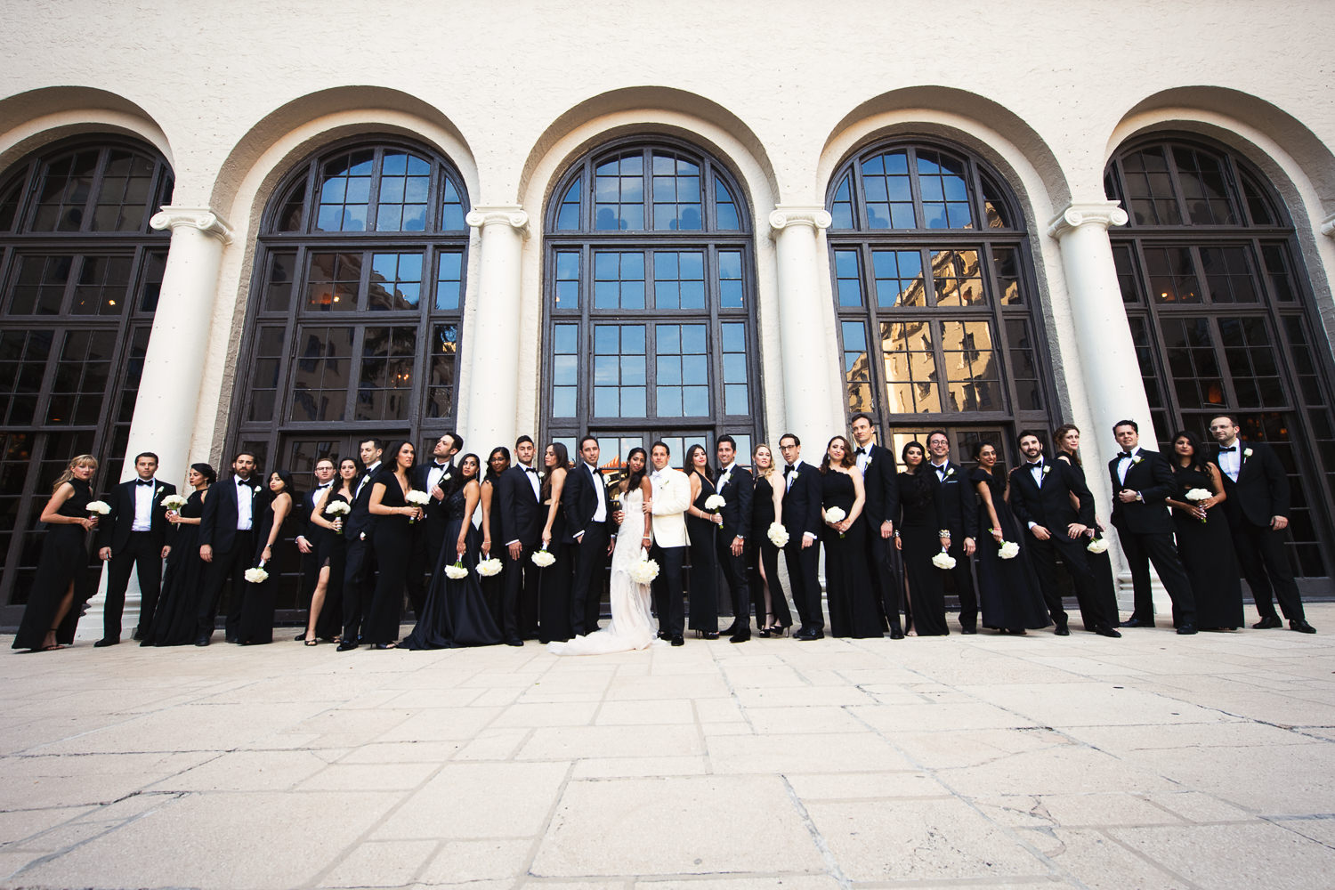 Breakers Palm Beach Wedding Bridal Party in Courtyard