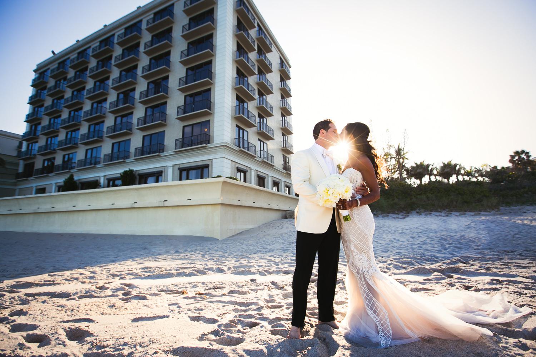 Breakers Palm Beach Wedding Romantic Portrait