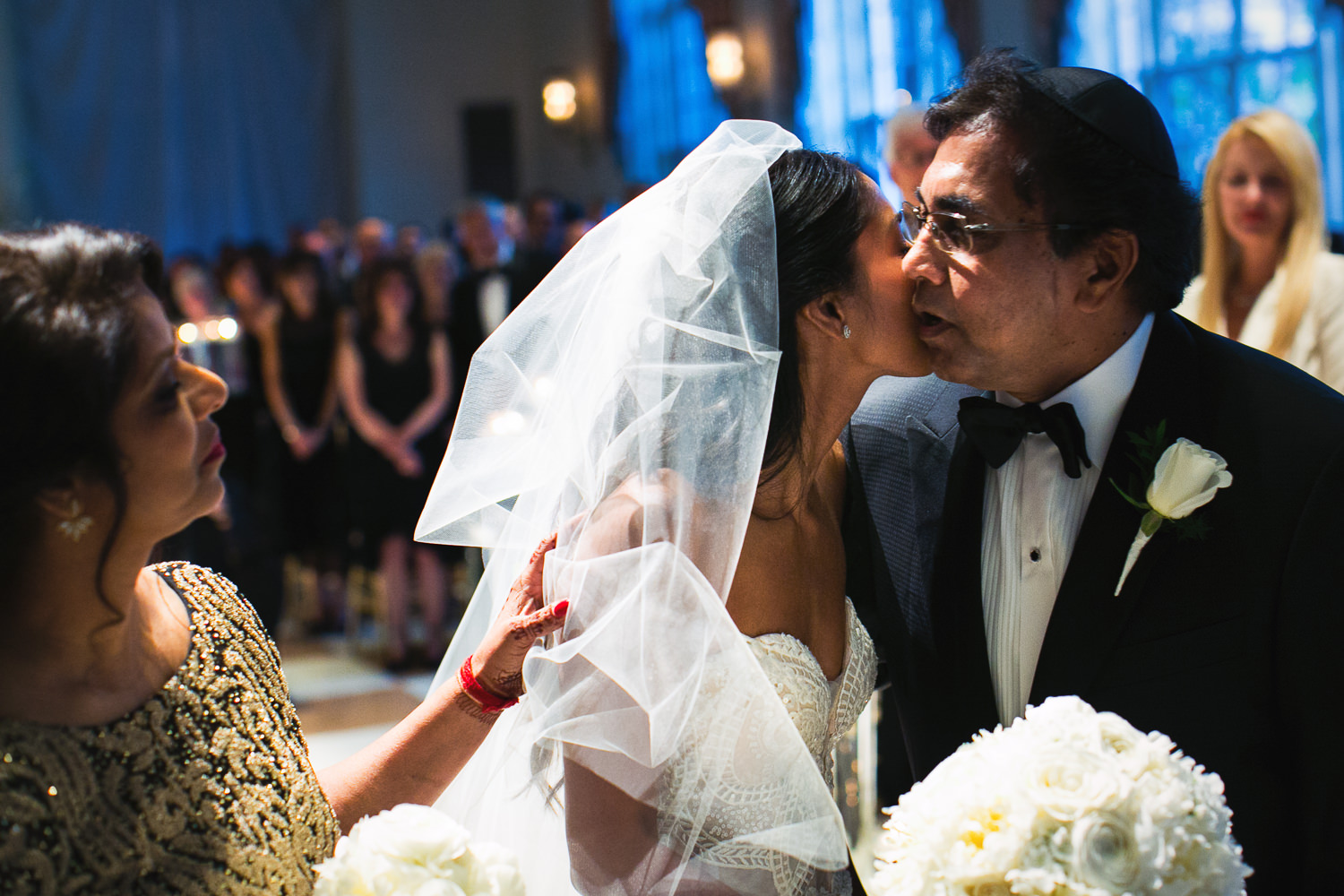 Father giving away his daughter at her Breakers Palm Beach Wedding
