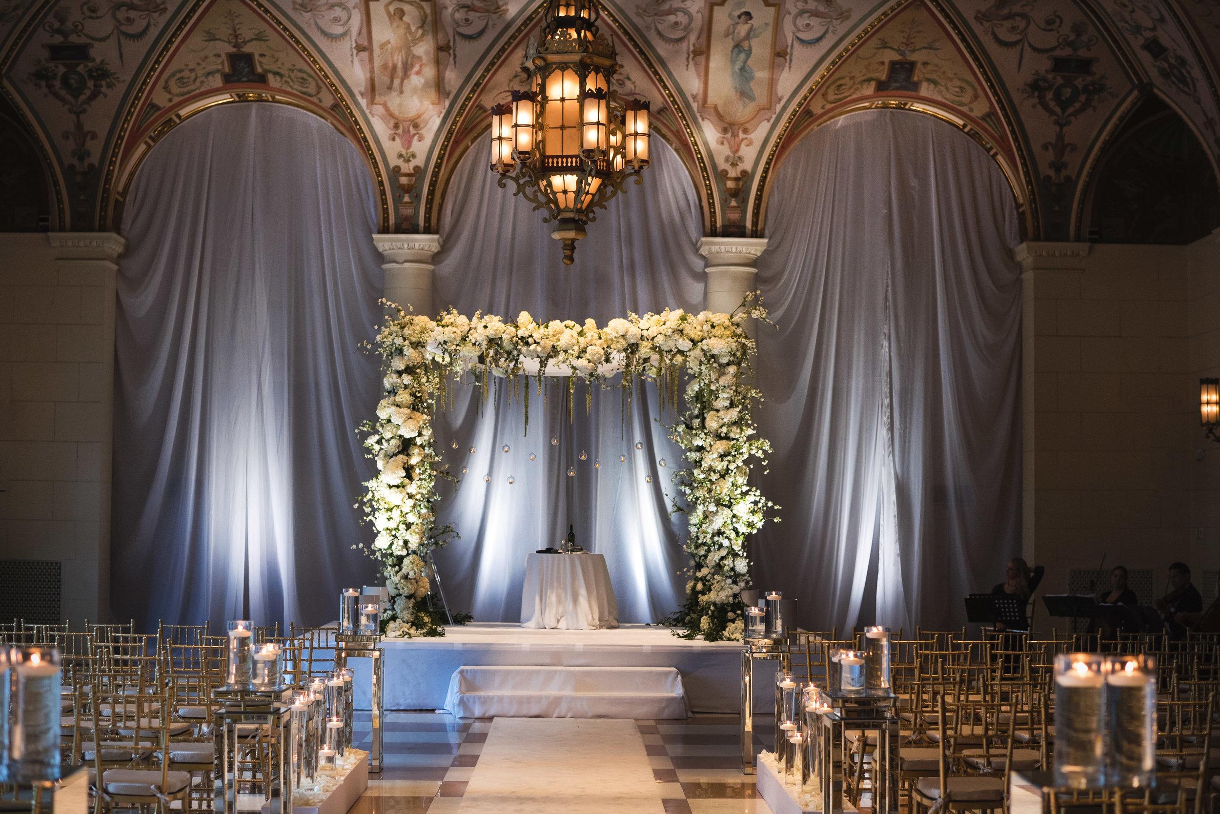 Breakers Palm Beach Jewish Wedding Ceremony Chuppah