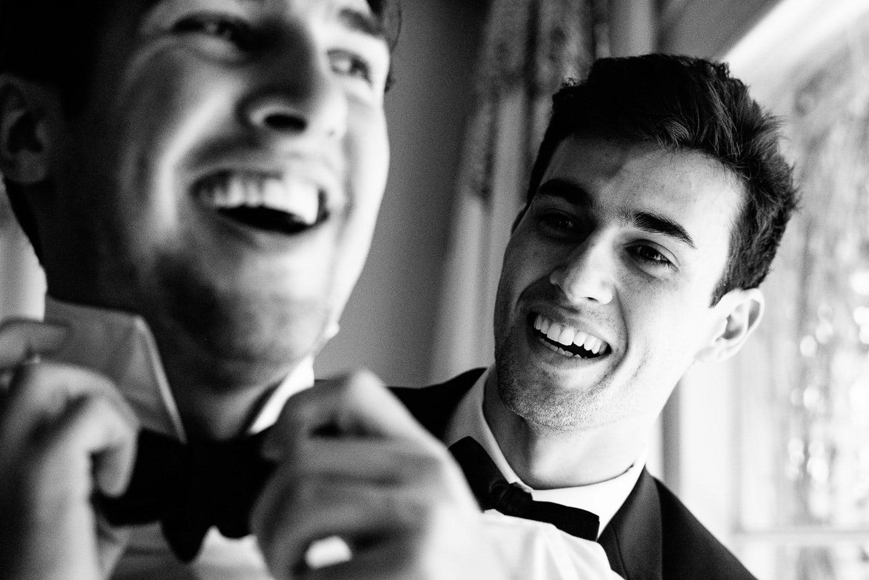 groomsmen getting ready at Hotel Bel-Air wedding