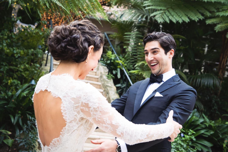 Best Hotel Bel-Air wedding first look spot