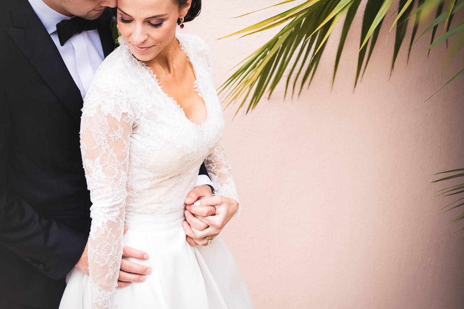 Modern Classic Bride and Groom at Hotel Bel-Air