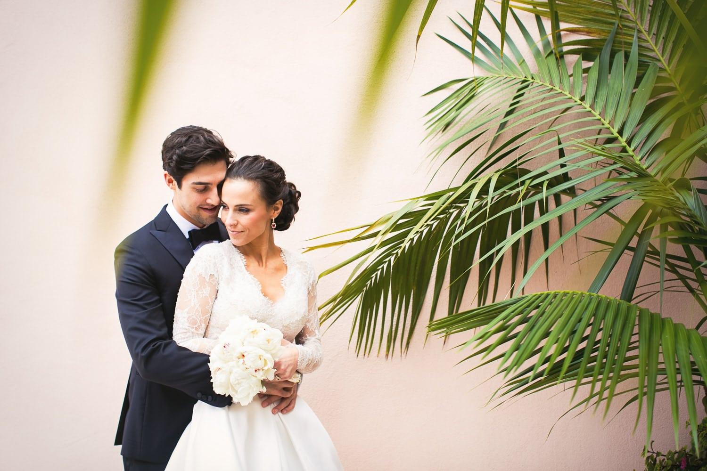 Black tie wedding at Hotel Bel-Air