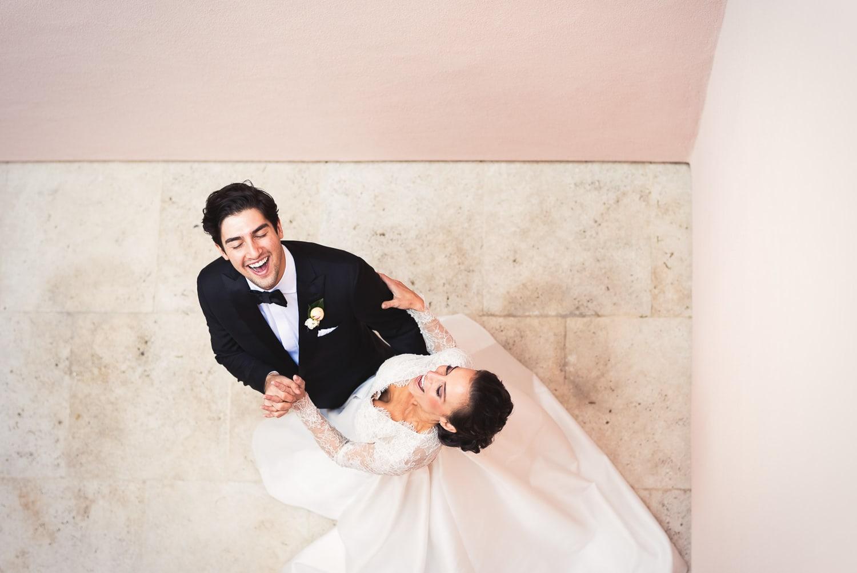 Hilarious bride and groom at Hotel Bel-Air wedding