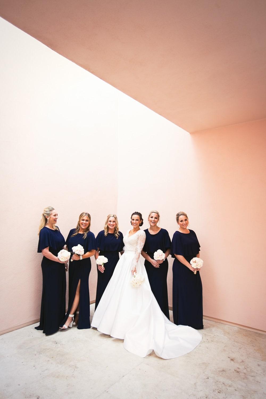 modern bridesmaids at Hotel Bel-Air